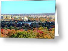 Dc Skyline With Jefferson Memorial Greeting Card