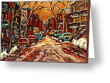 De Bullion Street Montreal Greeting Card