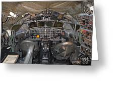 De Havilland Dh106 Comet 4 G Apdb Cockpit Full Size Poster Greeting Card