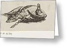 Dead Duck, Jacob Elias Van Varelen, After Jacob De Gheyn II, 1821 Greeting Card