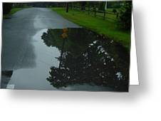 Dead End Puddle Greeting Card
