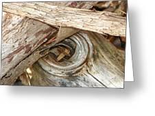 Dead Eye Tumble Wood Greeting Card