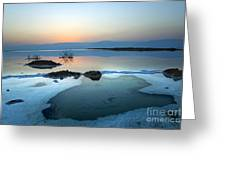 Dead Sea Shallow Waters At Dawn Greeting Card