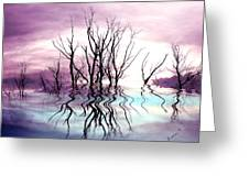 Dead Trees Colored Version Greeting Card