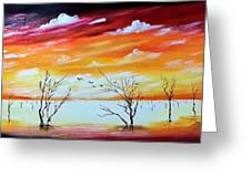 Dead Trees Reflection Greeting Card