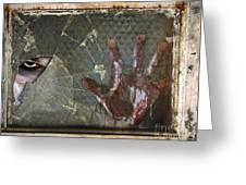 Dead Window Greeting Card