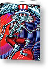 Deadhead Surfer Greeting Card