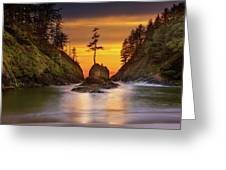 Deadman's Cove At Cape Disappointment State Park Greeting Card