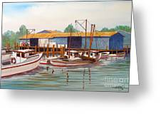 Deadrise Dock Greeting Card