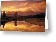 Deadwood River Sunrise Greeting Card
