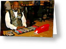 Dealer In Las Vegas Casino Greeting Card