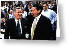Dean Smith And Mike Krzyzewski Greeting Card