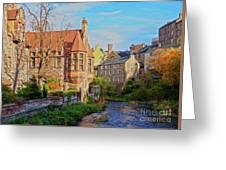 Dean Village, Edinburgh, Scotland Greeting Card