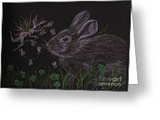 Dearest Bunny Eat The Clover And Let The Garden Be Greeting Card