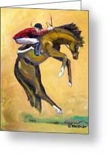 Death Defying Ride Greeting Card
