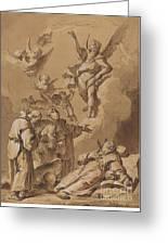Death Of A Holy Friar Greeting Card