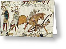 Death Of Harold, Bayeux Tapestry Greeting Card