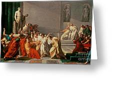 Death Of Julius Caesar Greeting Card