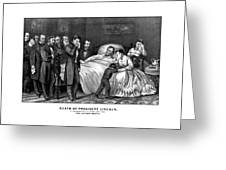 Death Of President Lincoln Greeting Card by War Is Hell Store
