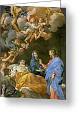 Death Of Saint Joseph Greeting Card