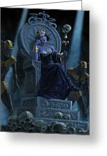 Death Queen On Throne With Skulls Greeting Card