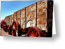 Death Valley Borax Wagons Greeting Card