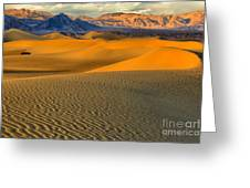 Death Valley Golden Hour Greeting Card