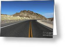 Death Valley Road Through The Badlands Greeting Card