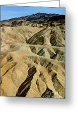 Death Valley Waves Greeting Card