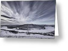 Deatnu Valley Scenery Greeting Card