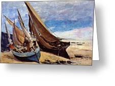 Deauville Beach 1866 Greeting Card