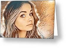 Debby Ryan Golden Beauty Greeting Card