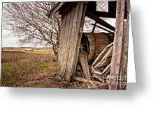 Debris In An Old Barn Greeting Card
