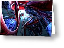 Decadence Abstract Greeting Card