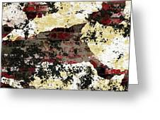 Decadent Urban Red Bricks Painted Grunge Abstract Greeting Card