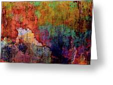 Decadent Urban Red Wall Grunge Abstract Greeting Card
