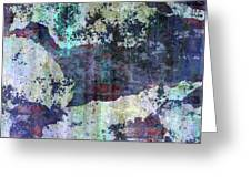 Decadent Urban White Splashed Bricks Grunge Abstract Greeting Card