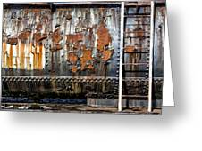 Decaying Railroad Car Greeting Card