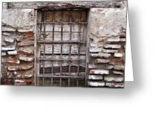 Decaying Wall And Window Antigua Guatemala 3 Greeting Card