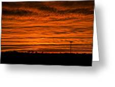 December Nebraska Sunset 002 Greeting Card