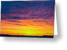 December Nebraska Sunset 003 Greeting Card