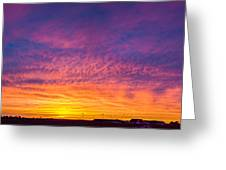 December Nebraska Sunset 004 Greeting Card