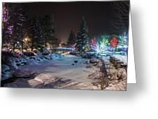 December On The Riverwalk Greeting Card