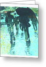 December Rain In Nurnberg Greeting Card