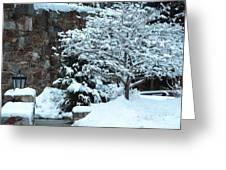 December Snows Greeting Card