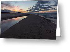 December Sunsets Greeting Card