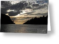 Deception Pass Bridge Sunset Two Greeting Card