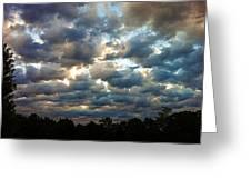 Deceptive Clouds Greeting Card