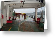 Deck Of A Merchant Vessel Greeting Card