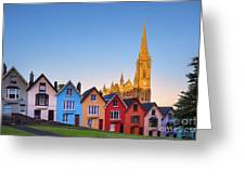 Deck Of Cards And St Colman's Cathedral, Cobh, Ireland Greeting Card